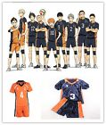 New Anime Haikyuu Karasuno High School Uniform Jersey Volleyball Cosplay Costume