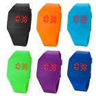 Unisex 6 Color Fashion LED Touch Screen Red numbers Digital Watch Silicone Strap