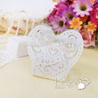 2 parts Love Heart Gift Candy boxes with ribbon Wedding Party Favor Baby Shower