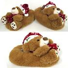 Ladies Slippers Boots Womens Girls XMAS Novelty Snugg Winter Warm Bootie Shoes