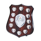 The Illustrious 12 Year Annual Wooden Shield Award Trophy, Personalised Engraved
