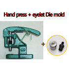 Hand Press Machine with Eyelets/Grommet Tool Die mold Set Kit , Multiple Size