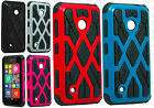 Nokia Lumia 530 HARD Hybrid Spider Web Fusion Rubber Case Cover +Screen Guard