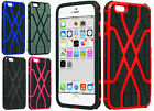 Apple iPhone 6 4.7 HARD Hybrid Spider Web Fusion Rubber Case + Screen Protector