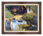Framed Le Dejeuner by Claude Monet The Luncheon Painting Reproduction Canvas Art