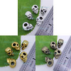 10/20 Solid Tibetan silver Gold Bronze 3D Skull Charms Spacer beads 13x10mm P307