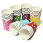 50 POLKA DOTS Disposable Hot Cold Coffee Paper Cups paper cup for party wedding