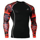 Men's Compression Base Layers Training Running Gym Workout Tight Shirts S-4XL