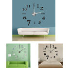 Modern DIY Large Wall Clock 3D Mirror Surface Sticker Home Office Decor Reliable