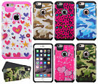 For Apple iPhone 6 Plus 5.5 HARD Hybrid Rubber Silicone Case +Screen Protector