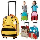 Lovely Cartoon Children Book Bags School bag Backpack trolley rolling luggage PS