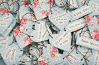 Small Polka Dot Wooden Heart Hanging Sign Little Novelty Word Gift Tags Xmas