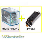 1se MY2NJ HH52P-L OMRON Coil Power Relay 8PIN 5A & PYF08A Base 12V 24V 110V 220V