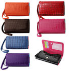 Wallet L Cash & Credit Card Alligator Case for Alcatel One Touch POP Star