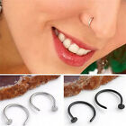1 Pair Punk Club Stainless Steel Nose Open Hoop Ring Body Piercing Jewelry Gift