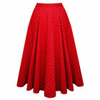 Hearts and Roses London Red Polka Dot Vintage 50s Flared Skirt