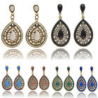 New 1Pair Vintage Bohemia Style Diamond Drop Earring Resin Heart Beaded Earrings