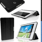 PU Fibre Textured Smart Cover for Acer Iconia Tab 8 A1-840FHD Stand Folio Case