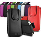 COLOUR MAGNETIC BUTTON PULL TAB POUCH COVER FOR NEW & POPULAR ALCATEL MOBILES