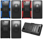 ZTE ZMax Z970 Quality Phone Cover Case + Holster Belt Clip