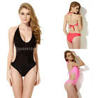 Colloyes Sexy One Piece Padded Halterneck Swimwear Beachwear Bathing Suit Bikini