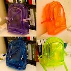 Girl Women's Transparent PVC Backpack Satchel Bag Bookbag Packbag Bueaty -CB