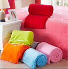 Soft Warm Solid Embossing Plush Fleece Throw Bedding Sofa Blanket