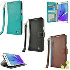 Luxury Leather ID Card Wallet Case Cover For Samsung Galaxy Note 4
