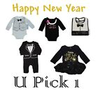 NEW YEAR HOLIDAY XMAS OUTFIT GIRL BOY BODYSUIT TUX BIB DRESS CHILDRENS CLOTHES