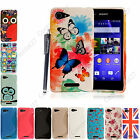 For Sony Xperia E3 Rubber Silicone Wave Gel Back Skin Fits Case Cover+Stylus Pen