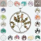 Wire Wrap Tree of Life Gemstone Chip Beads Chakra Reiki Pendant Charms Craft
