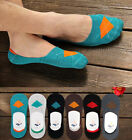 New Men Low Cut Invisible No Show Casual Cotton Silicon Gel Trainer Boat Socks