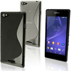 S Line Glossy TPU Gel Case for Sony Xperia E3 D2202 Skin Cover Screen Protector