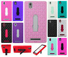 For T-Mobile ZTE ZMAX HYBRID IMPACT KICKSTAND Diamond Hard Case Phone Cover