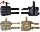 Tactical Airsoft Military Molle Camo Magazine Drop Leg Panel Utility Pouch Bag B
