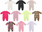 BABY BOYS GIRLS SLEEPSUIT FLEECE ONESIE 0-9 MONTHS FREE P&P BNWT