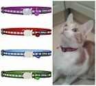 Red Dingo Reflective Cat Collar Choice Of Colour
