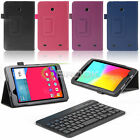 "For LG G Pad 7 7.0"" V400 V410 Tablet +Case PU Leather Cover + Bluetooth Keyboard"