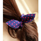 10pcs Hair Band Girls' Stripe Polka Dot Rabbit Ears Headband Hair Rope Accessory