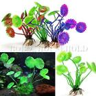 Artificial Plastic Lotus Leaves Fish Tank Underwater Plant Aquarium Ornament
