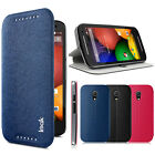 IMAK Luxury Matte PU Leather Stand Cover Case For Motorola Moto G2 G 2nd