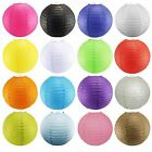 5 sizes and 12 colours Round Paper Lanterns Lamp Wedding Birthday Party
