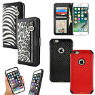 For Apple iPhone 6 / 6 Plus Luxury Animal Print Purse Card Wallet Case Cover