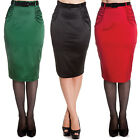 Hell Bunny Babe Rock Retro Rockabilly Vintage 50S Fitted Wiggle Pencil Skirt
