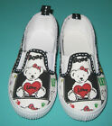 NEW Girl Love Bear Canvas Shoe Size US 8 to 11