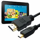 Gold Tip Micro HDMI to HDMI for Kindle Fire HD 1, 1.5, 2, 3, 5M Visual Cable