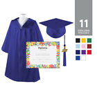 NEW Kindergarten Graduation Gown Cap Tassel & Diploma Kindergrad Preschool