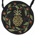 """Pineapple Hooked Chair Pad by Park Designs, 14.5"""" Diameter, Choice of One or Set"""