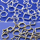 60pcs 3D Mixed Metallic Nail Art Sticker Patch Hollow Metal Frame Decoration DIY
