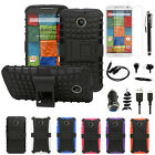 8x Accessory For Motorola Moto X 2nd Gen Armor Grip Stand Case+Charger+LCD+Cable